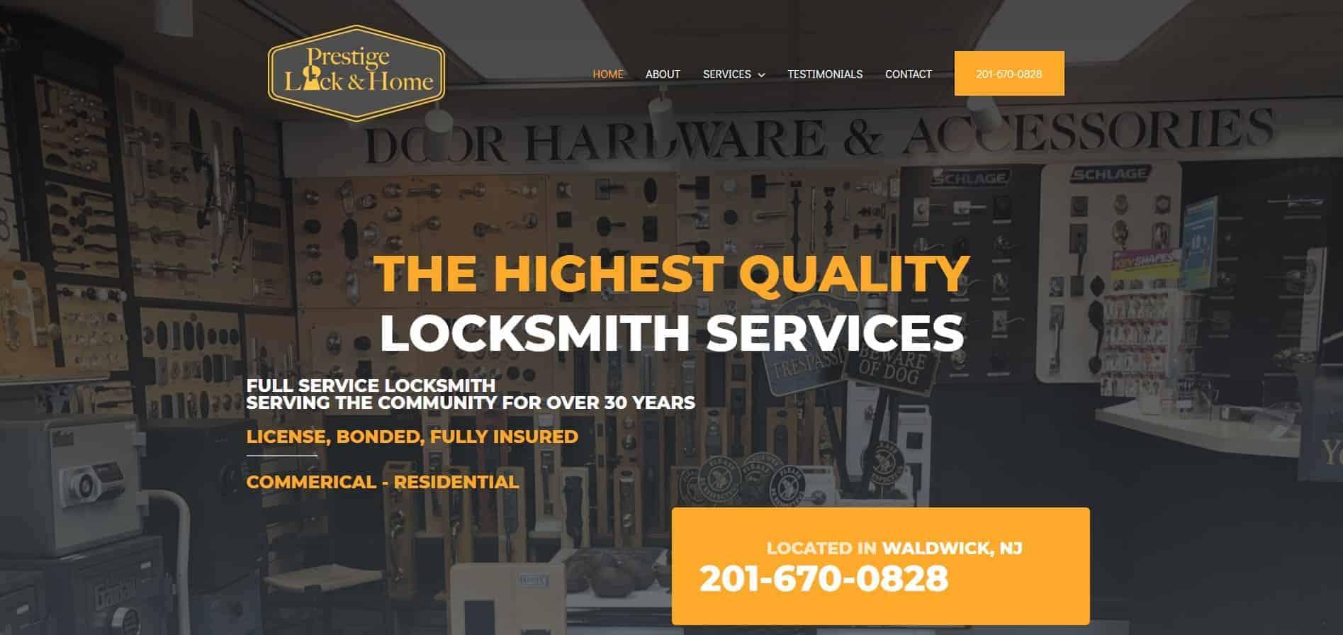 prestige lock and home
